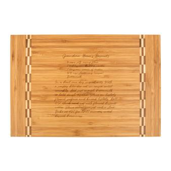 Recipe Image Transfer - Bamboo Cutting Board with Butcher Block Inlay