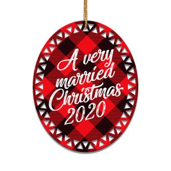 A Very Married Christmas - Ceramic Christmas Ornament
