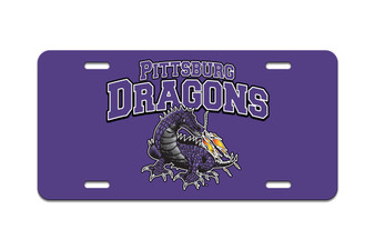 Pittsburg Dragons - Front License Plate