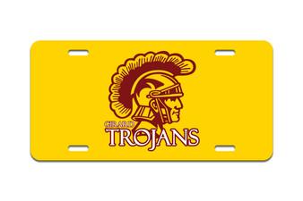 Girard Trojans - Front License Plate