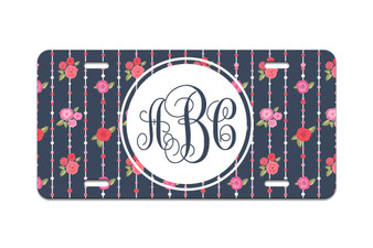 Personalized Chic Monogram - Front License Plate