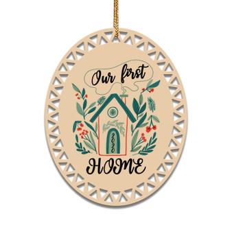 Our First Home - Ceramic Christmas Ornament