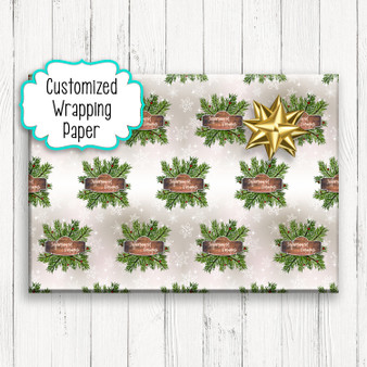 Custom Logo - Personalized Christmas Gift Wrapping Paper