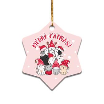 Merry Catmas - Ceramic Christmas Ornament
