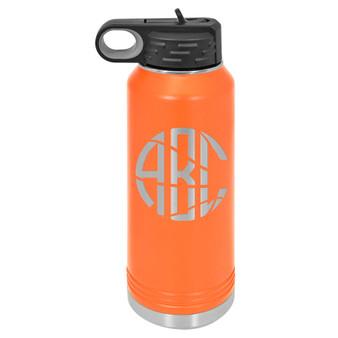 Basketball Monogram - 32 oz Water Bottle