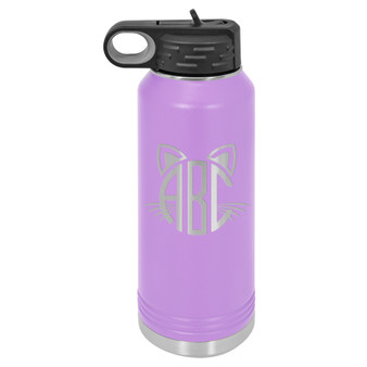 Cat Monogram - 32 oz Water Bottle
