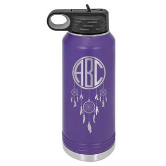 Dream Catcher Monogram - 32 oz Water Bottle