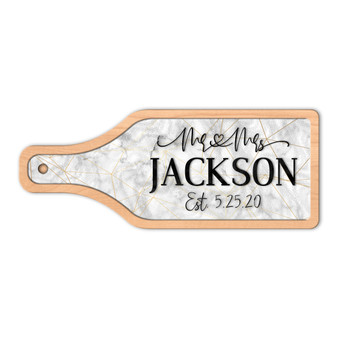 Personalized Marble Mr and Mrs - Wine and Cheese Board Set