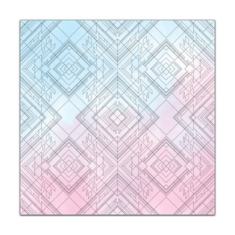 Kaleidoscope Geometric Pattern - Giant Coloring Poster
