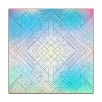 Kaleidoscope Geometric Design - Giant Coloring Poster
