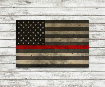Thin Red Line Flag Printed Pallet