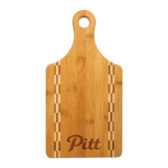 Pitt State Script - Bamboo Cutting Board with Butcher Block Inlay