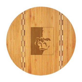PSU Splitface - Bamboo Cutting Board with Butcher Block Inlay