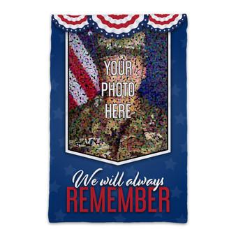 Custom Photo Memorial Day - Garden Flag