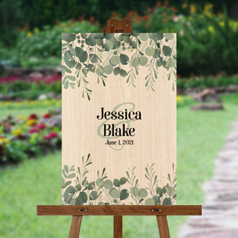 Eucalyptus Leaves - Wedding Signature Board