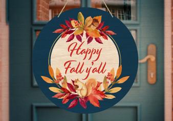 Custom Autumn Leaves Squirrel Wreath - Door Hanger