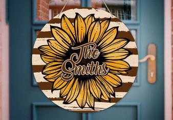 Custom Sunflower - Door Hanger