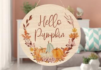 Custom Pumpkin Wreath - Door & Wall Hanger
