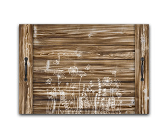 Floral Garden Bees - Noodle Board Stove Top Cover