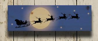 """Santa's Sleigh""- Printed Plank"