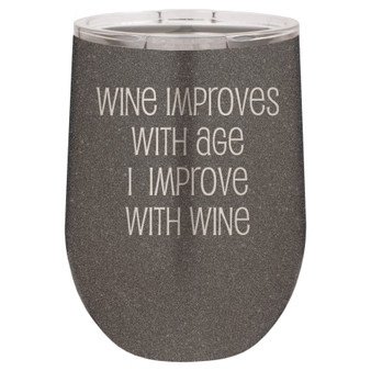 Wine Improves with Age - Stemless Tumbler