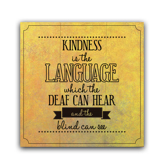 Kindness Is The Language - Boxed Board