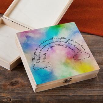 Be A Rainbow - Wood Gift Box