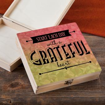 Start Each Day - Wood Gift Box