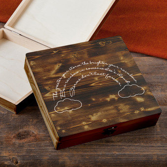 Be A Rainbow - Torched Wood Gift Box