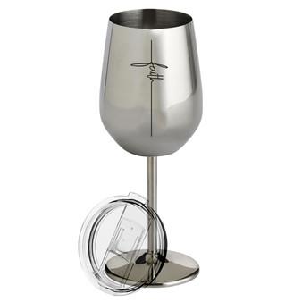 Faith - Metal Wine Glass