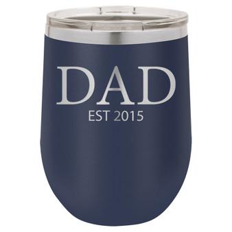 Dad est. - Stemless Tumbler