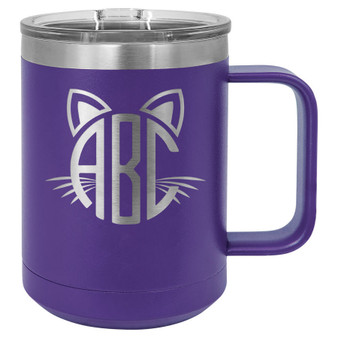 Cat Monogram - 15 oz Coffee Mug