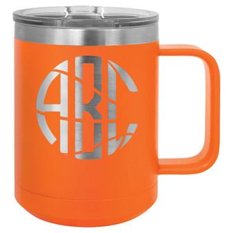 Basketball Monogram - 15 oz Coffee Mug