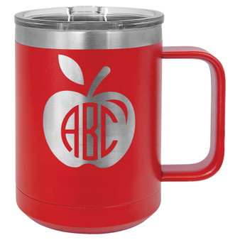 Apple Monogram - 15 oz Coffee Mug