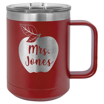 Apple Custom Name - 15 oz Coffee Mug