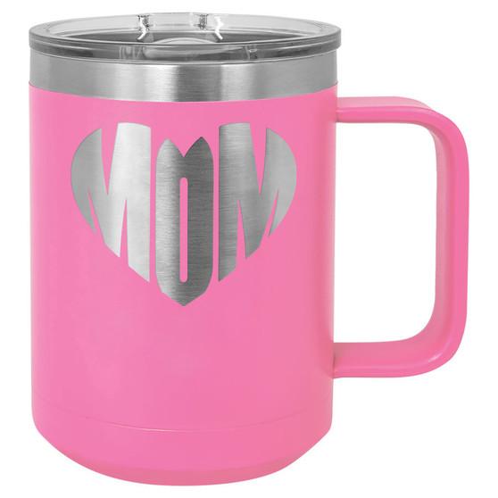 Mom Heart - 15 oz Coffee Mug