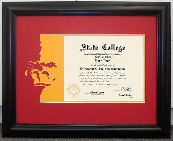 PSU Diploma Mat and Frame