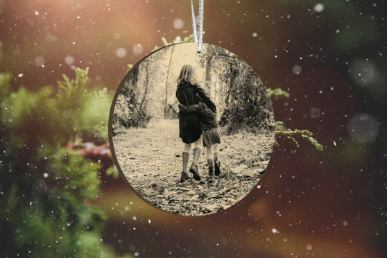 Personalized Photo Wood Ornament