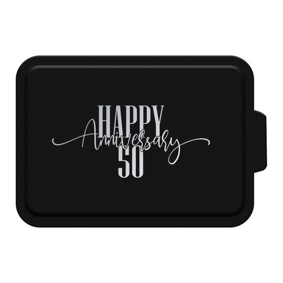 Custom Happy Anniversary - Aluminum Cake Pan