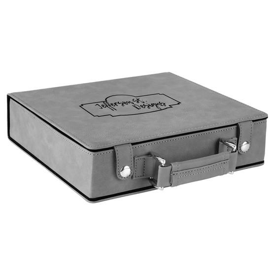 Custom Logo - Leatherette Poker Set