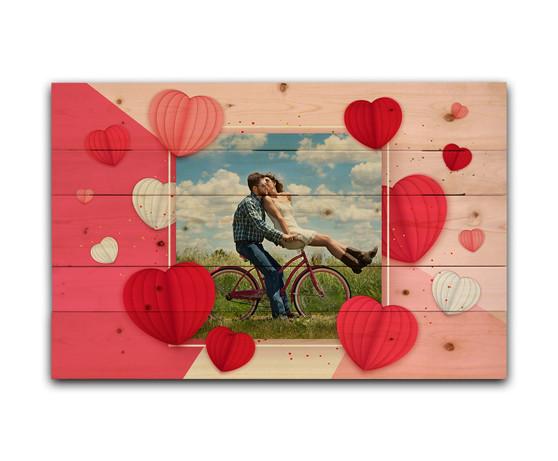 Custom Valentine Hearts - Photo Pallet