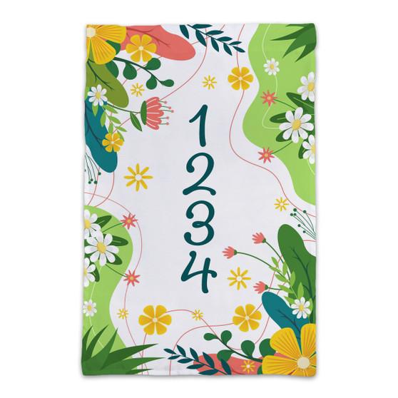 Custom Spring House Number - Garden Flag