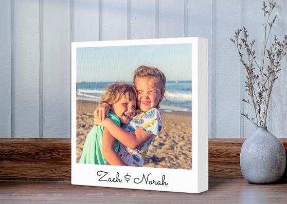 Custom Polaroid Photo - Gallery Wrapped Canvas