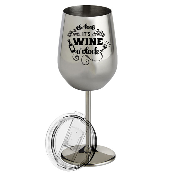 Wine O'Clock - Metal Wine Glass