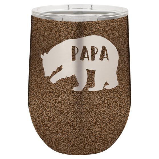 Papa Bear - Stemless Tumbler