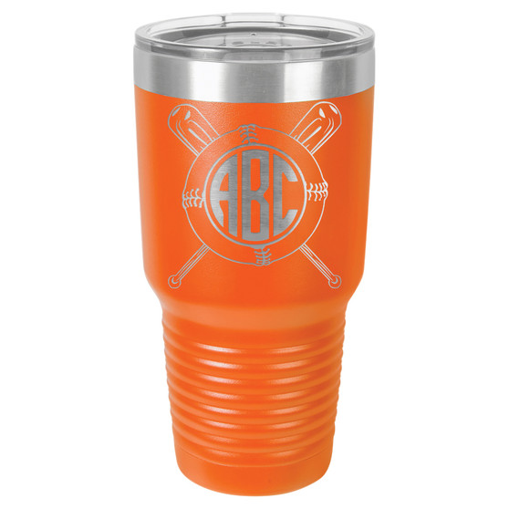 Baseball Softball Monogram - 20 & 30 oz Tumbler