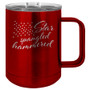 Star Spangled Hammered - 15 oz Coffee Mug