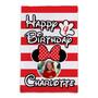 Custom Minnie Mouse Birthday - Garden Flag