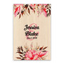 Watercolor Floral Leaves - Wedding Signature Board