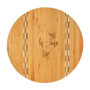 Honey Bee Home - Bamboo Cutting Board with Butcher Block Inlay